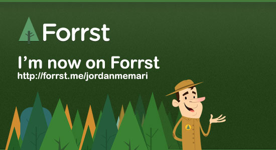 image of the Forrst ranger and the forrst me account for Jordan Memari