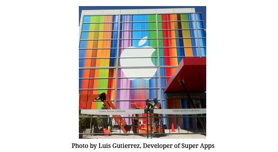 Apple Media Event September 2012 window display